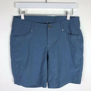 """Kuhl Trekr Shorts 8"""" Inseam Ocean Blue Outdoor"""